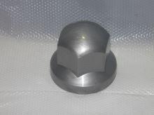 Krytka kolového šroubu 32 mm, stříbrná, nižší