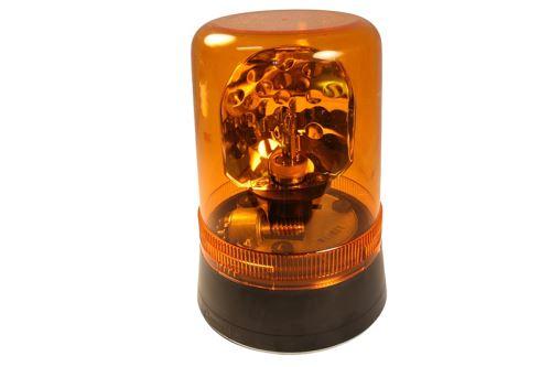 Maják pevný žárovka 24v 220mm, oranžový