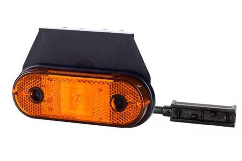 Poziční světlo LD650 (vzor Uni-Point) oranžové s držákem a kabelem
