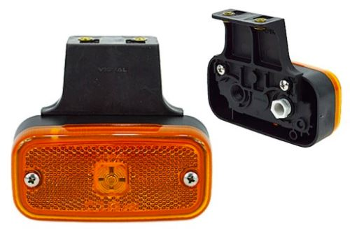 Poziční světlo oranžové žárovkové s držákem