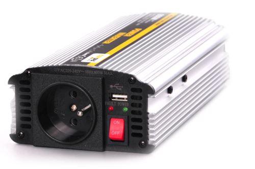 Měnič  12V/220V AC 300W trvale