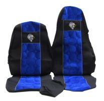 Autopotahy Scania R, řidič pás na sedačce, modré