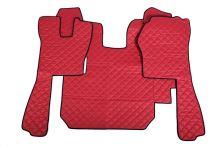 Kožené koberce Scania R do 2010, manual, červené
