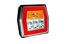 Koncový svetlomet Fristom FT-121 LED, hranatý - oranžový