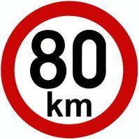 Samolepka - rýchlosť 80 km / h