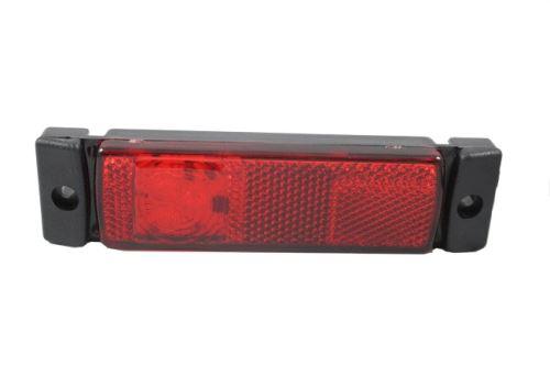 Poziční světlo LED s odrazkou, červené