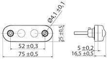 Pozičné svetlo LED Biele 24V + 0,3 m