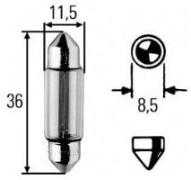 Žárovka 24V C5W SV 8,5-8, Hella