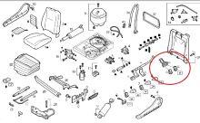 Opravná sada ventilu zádových měchů sedadla Iveco