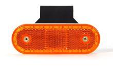 Poziční světlo WAS W47WW s držákem, oranžové