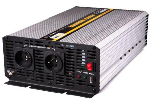 Měnič napětí z 24V na 230V, 3000W