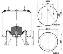 Mech pruženia SAF 2618V