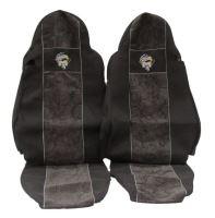 Autopoťahy MAN TGA / TGX oba pásy v sedačke, šedej