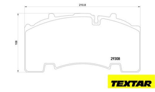 Brzdové destičky TEXTAR 29171 (29308, 29271)