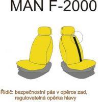 Autopoťahy MAN F2000 / L2000 vodič pás v sedačke, červenej