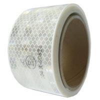 Reflexní páska pro pevný podklad, bílá 1m