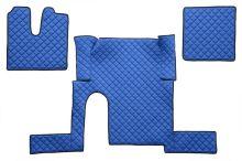 Kožené koberce MAN TGX - manual, 1 šuplík, modré