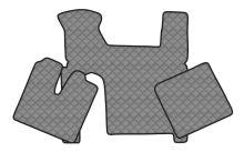 Kožené koberce MAN TGX - manual, 2 šuplíky, šedé