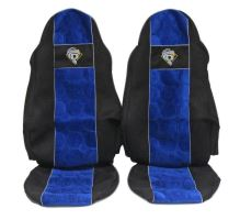 Autopotahy DAF do 2012, oba pásy na sedačce, modré