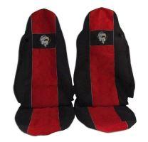 Autopotahy MAN TGA/TGX oba pásy v sedačce, červené