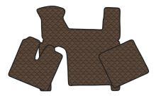 Kožené koberce MAN TGX - manual, 2 šuplíky, hnedé
