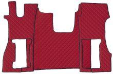 Kožené koberce Scania R od 2016 - vzduchové sadačky, červené