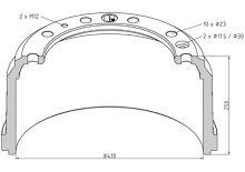 Brzdový buben Iveco 410x180 - zadní