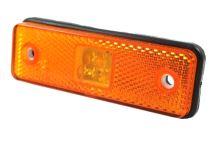 Pozičné svetlo LED oranžovej, 31x98 s gumovou podložkou