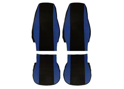 Autopotahy MAN TGX, DELUX koženka, modrá