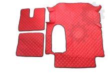 Kožené koberce MAN TGA - široká kabina, červené