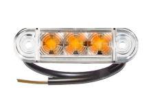Poziční světlo LED Proplast Pro-Slim 24V, oranžové