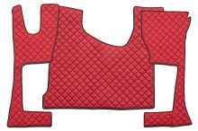 Kožené koberce MB Actros MP4 - úzká kabina, červené