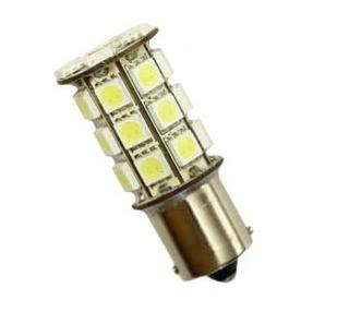 blistr 1ks LED 12V 21W BA15s čirá 27xLED SUPER