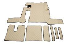 Kožené koberce MAN TGX - manual, 1 šuplík, béžové