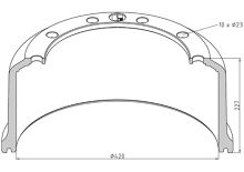 Brzdový bubon SAF 420x180