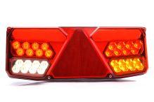 Koncový svetlomet združený s trojuholníkom LED, 12 / 24V, pravý