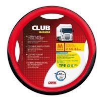 Potah volantu Lampa Club 44-46 cm, černý-červený