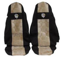Autopoťahy MAN TGA / TGX oba pásy v sedačke, béžovej