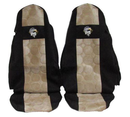 Autopotahy MAN TGA/TGX oba pásy v sedačce, béžové