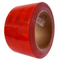 Reflexná páska pre pevný podklad, červená 1m