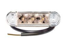 Poziční světlo LED Proplast Pro-Slim 24V, bílé
