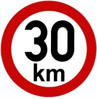 Samolepka - rýchlosť 30 km / h