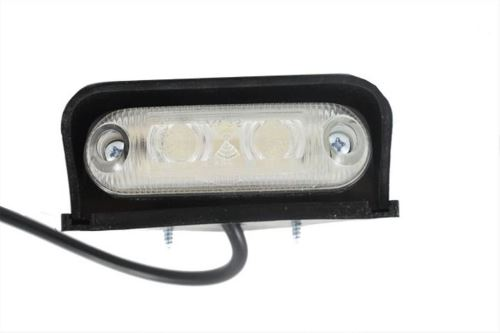 Pozičné svetlo 3x LED oválne biele rohové