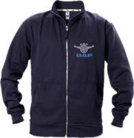 Mikina DAF, dlouhý zip, výšivka, modrá
