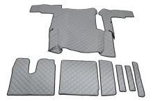 Kožené koberce MAN TGX - manual, 1 šuplík, šedé