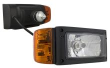 Přední světlomet H4 s blikačem, levý