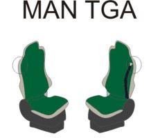 Autopotahy MAN TGA/TGX/TGL řidič pás v sedačce, šedé