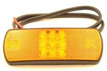 Poziční světlo oraž. LED s kabelem 0,5m 9-33V