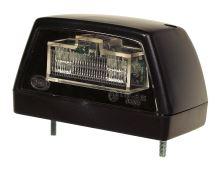 Osvetlenie ŠPZ čierne, 2x LED 24V