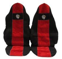 Autopoťahy MAN TGA / TGX / TGL vodič pás v sedačke, červenej